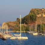 Corfu: Mandraki harbour is usually full of yachts