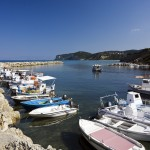 Agios Stefanos (NW Corfu): The small harbour full of fishing boats