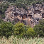 Dalyan: The rock tombs date from 4th century BC and can be seen from the town and river