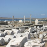 Delos: The Temple of Artemis, part of the extensive excavations best visited from Mykonos