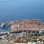 Dubrovnik: Aerial view of the walled city
