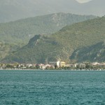 Fethiye: Sea front with Lycian tombs of ancient Telmessus to the right