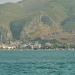 Fethiye: Panorama pt 2. Town centre with gulets moored on the quay and the Castle to the right