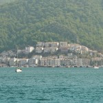 Fethiye: Panorama pt 4. Gulet quay and right, the marina