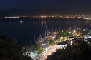 Fethiye: The sea front by night