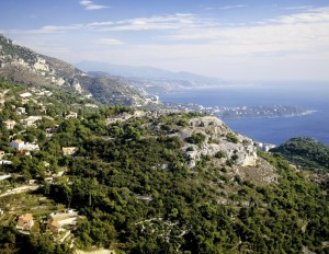 Roquebrune: The town on the Cap Martin peninsula centre shot