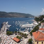 Herceg: The breakwater and harbour with swimming pool in the middle!