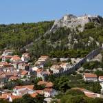 Hvar: The Venetian Fortress and city walls dominate the town