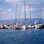 Hydra: Yachts on the north quay
