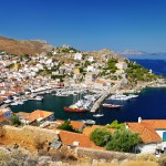 Hydra: Harbour view, showing just how compact the port is