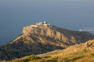 Orgias: Panagia Kastriani Monastery, two miles out of the village offers spectacular views