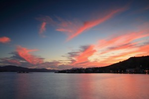 Klek: The headland at sunset