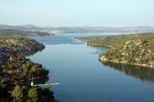 Skradin: The Krka River provides an interesting sail