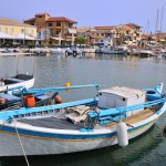 Lefkas Town: Fishing boats in the harbour
