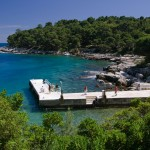 Lokrum: The small harbour on the east side is reserved for trip boats but you can anchor here