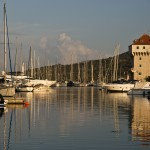Marina: The distinctive tower in Marina Agana, surrounded by assorted yachts