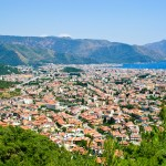 Marmaris: View over the new town towards the old part