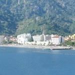 Marmaris: A small part of the beach with the hotels that now dominate the sea front