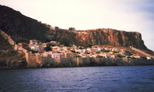 Monemvasia: The fortified lower town on the rock