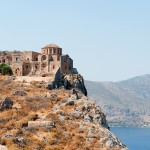 Monemvasia: The church of Agia Sophia on the peak of the rock