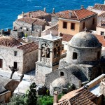 Monemvasia: One of the many Byzantine churches in the walled fortress town.