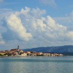 Betina: The town and harbour, with conspicuous church town