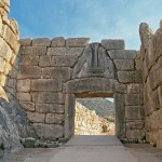 Mycenae: The Lion Gate, one of the earliest examples of monumental carving