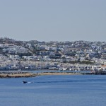 Mykonos: The old harbour and town.