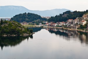 Neretva River: one of the small towns along the river