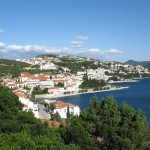 Neum: The town looking south, Bosnia-Herzegovina's only coastal resort