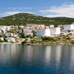 Neum: The town from the sea.