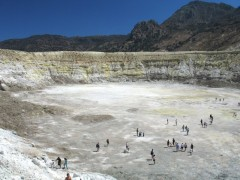 Nisyros: The volcano crater