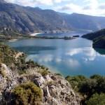 Oludeniz: The lagoon with, behind, the famous long beach