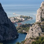 Omis: The town and mouth of the River Cetina from the Gorge