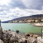 Opatija: The sea front with Admiral Marina visible in the distance