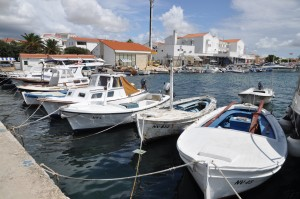Novalja: There's not much room in the harbour for visiting yachts
