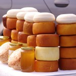 Pag Town: A selection of the local cheeses and honey