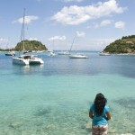 Lakka: Yachts anchored in the clear waters of the bay