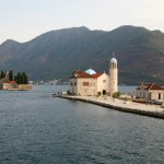 Perast: The islands of Gospa od Skrpjela (nearest) and St. Djordje