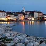 Porec: The sea front at dusk