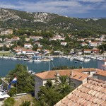 Rab Town: The ACI Marina on the east of the harbour, seen from the old town