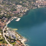 Risan: Aerial view of the town and harbour