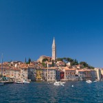 Rovinj: The old town and quay, north of the headland