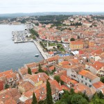 Rovinj: The quay north of the headland seen from the church tower
