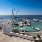 Vlychada: The Marina on the south coast is prone to silting