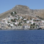 Hydra: Harbour entrance from the west