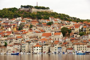 Sibenik: The town and quay, overlooked by the fort