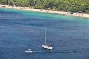 Skiathos: Kanapitsa, one of the many great beaches.