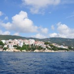 Skiathos: The town and south harbour, used by trip boats