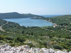 Skrivena Luka: The bay provides a very sheltered anchorage